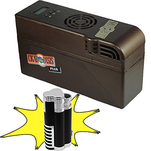 Cigar Oasis Plus Humidifier With Free Torch Lighter