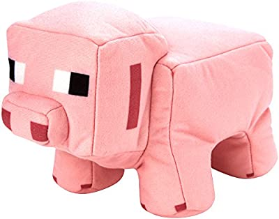 Minecraft Reversible Plush, Pig to Porkchop from Minecraft
