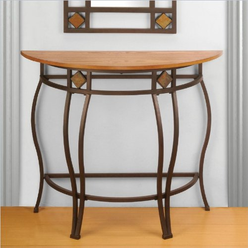 half moon console table end tables accent living room furniture hall home decor ebay. Black Bedroom Furniture Sets. Home Design Ideas