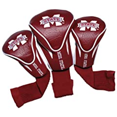 Buy NCAA Mississippi State Bulldogs 3 Pack Contour Golf Club Headcover by Team Golf