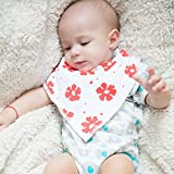 Baby Drool Bibs | Soft Cotton and Absorbent Polyester| Adjustable Nickel Free Snaps | Unisex Pack of 6