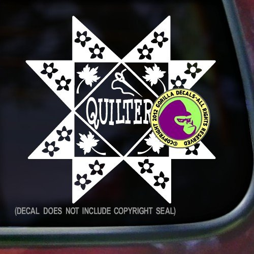 QUILTER Vinyl Decal Sticker 1 (Quilting Sewing Maching compare prices)