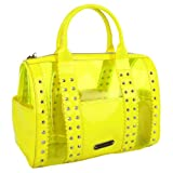 Betsey Johnson BH77225 Satchel,Yellow,One Size