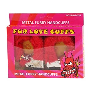 Furry Handcuffs Love Cuffs Hen Night Valentines Red