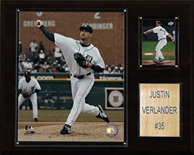 MLB Justin Verlander Detroit Tigers Player Plaque