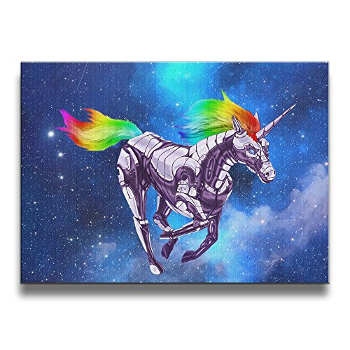 [ASCHO2 Rainbow Unicorn Frameless Art Photo Frame Picture Frame - Display Photo Home Wall Art Decor For Home Living Room Office Or] (Persona 4 Dancing All Night Costumes)
