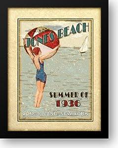 Sally ray Cairns - Jones Beach 20x24 Framed Art Print by Cairns, Sally Ray