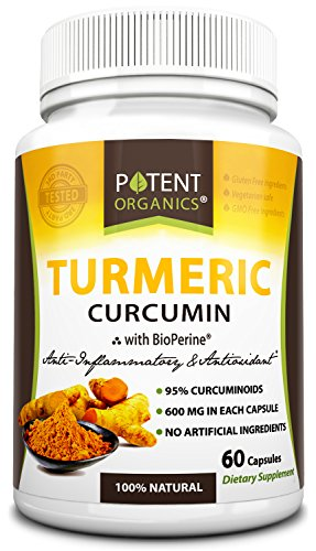 Potent Organics Turmeric Curcumin, With BioPerine® (Standardized To 95% Curcuminoids).