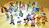 Disney Pixar Figurine Set with the Incredibles , Winnie the Pooh, Toy Story , Mickey Mouse , Finding Nemo and Princesses Collection (Set of 30)