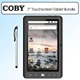 Coby MID7024-4G Kyros 7″ Touchscreen Internet Android 4G Tablet Bundle