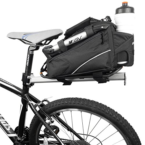BV Bike Commuter Carrier Trunk Bag with Velcro Pump Attachment, Small Water Bottle Pocket & Shoulder Strap (Commuter Bike Rack compare prices)