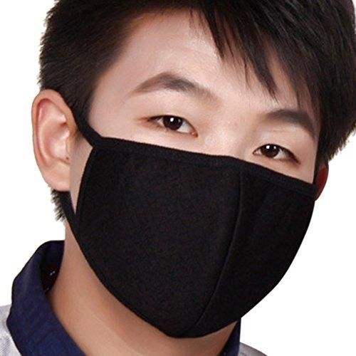 FakeFace Lot de 3 Masque BoucheExtérieur Anti-poussière et Anti-haze PM2.5 Mince Respirant Anti-Bactérienne Masque Anti-bactérienne Respiratoire Soins de Santé Bouche Visage
