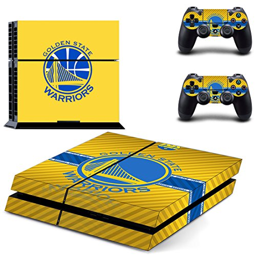 Hambur® Sony PlayStation 4 Skin Decal Sticker Set - NBA Champion Golden State Warriors (1 Console Sticker + 2 Controller Stickers) (Nike Steering Wheel compare prices)
