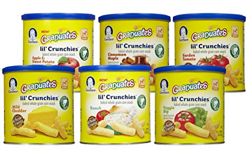 Gerber Graduates Lil' Crunchies, Variety Pack, 1.48-Ounce Canisters (Pack of 6) (Organic Yogurt Bite Gerber compare prices)