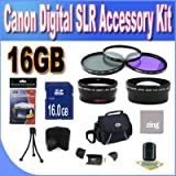 51Zk8l%2Bp56L. SL160  Top 10 Digital SLR Camera Bundles for February 12th 2012   Featuring : #4: Canon EOS Rebel T3i 18 MP CMOS Digital SLR Camera and DIGIC 4 Imaging with EF S 18 55mm f/3.5 5.6 IS Lens &amp; Canon 55 250IS Lens + 58mm 2x Telephoto lens + 58mm Wide Angle Lens (4 Lens Kit!!!!!!) W/32GB SDHC Memory+ Battery Grip + 2 Extra Batteries + Charger + 3 Piece Filter Kit + UV Filter + Full Size Tripod + Case +Accessory Kit