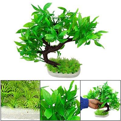 For sale plastic green plants tree fish tank decoration for Fish tank tree