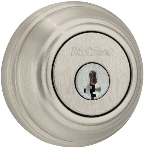 Kwikset 980 Single Cylinder Deadbolt featuring SmartKey in Satin Nickel (Grade 1 Deadbolt compare prices)