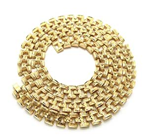 """Unique 30"""" Watch Chain Metal Clasp Hip Hop Fashion Necklace in Gold-Tone"""
