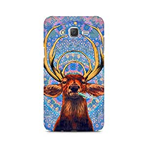 Ebby Smoking Deer Premium Printed Case For Samsung J3 2016