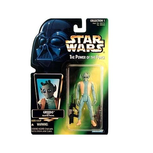 51ZkHJ7bMkL Cheap  Star Wars Power of the Force Green Card Greedo Action Figure