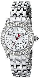 Betsey Johnson Women's BJ00193-04 Analog Display Quartz Silver Watch