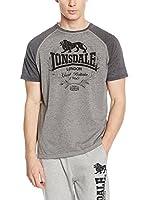 Lonsdale Camiseta Manga Corta Newmill (Gris Jaspeado)