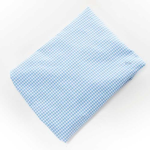 Glenna Jean Starlight Fitted Sheet, Blue Gingham/White - 1