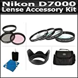 67mm Lens Accessory Kit Compatible With The Nikon D7000 Includes 67mm 3pc High Resolution Multi Coated Filter Kit + 67mm Lens Hood + 4 piece Close-up Filter Set Includes +1 +2 +4 +10 + Deluxe Carrying Case + 3pc Lens Cleaning Kit