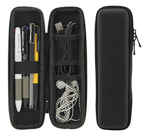 ZILONG Black EVA Hard Shell Stylus Pen Pencil Case Holder Protective Carrying Box Bag Storage Container for Fountain Pen Ballpoint Pen Stylus Apple Pencil USB Cables (Small Package Box compare prices)