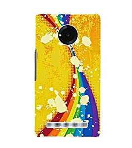 CURTAINS PATTERN IN A YELLOW BACKGROUND 3D Hard Polycarbonate Designer Back Case Cover for YU Yuphoria::Micromax Yuphoria YU5010