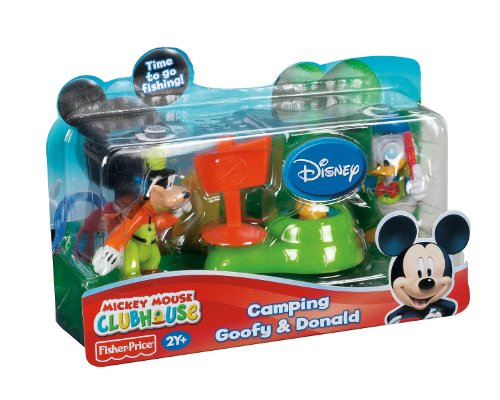 Fisher Price Mickey Mouse Clubhouse Camping Goofy & Donald 2-Pk front-579640