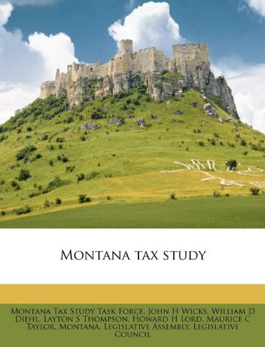Montana tax study