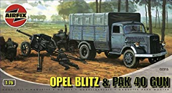 Amazon.com: Airfix A02315 1:76 Scale Opel Blitz and Pak 40 Military