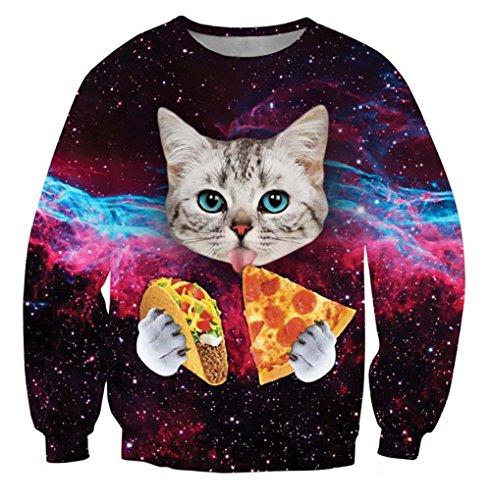 3D Cat Print Hoodie Sweatershirt