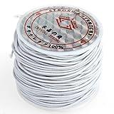 1x Weiß elastisch Schmuckfaden Gummifaden Faden 1mm
