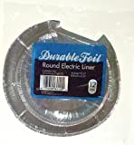 Durable Foil Durable Foil Round Electric Burner Liners D62120 - Pack of 12