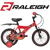 Raleigh Atom 14 Inch Boys Bike in Red with Stabilisers - NEW 2015 Model