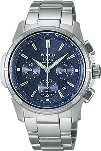 [ワイアード]WIRED 腕時計 ソーラークロノグラフ ブルーダイヤル AGAD029 メンズ