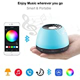 Hommate Portable Smart RGB Music Box Build-in Hi-Fi Bluetooth Speaker,Remote Controlled by iOS/Android Cell Phone,Perfect for Party, Home Enjoyment,Guests Entertaining, Outdoor Travel,Ideal Gift.