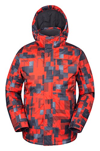 mountain-warehouse-mens-shadow-snowproof-printed-ski-jacket-insulated-fleece-lined-orange-medium