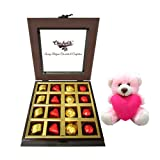 Chocholik Luxury Chocolates - Enjoyable Treat Of Wrapped Chocolates And Truffles With Teddy