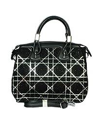 Raeen Plus Glittery-Black Handbags For Women