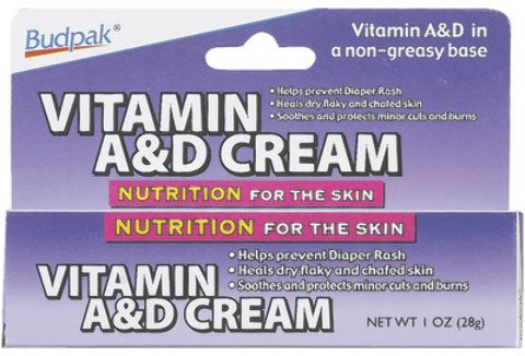 Vitamin A And D Cream - 1 Oz. [12 Pieces] *** Product Description: Vitamin A And D Is A Non-Greasy Cream That Not Only Helps Prevent Diaper Rash, But Heals Dry And Flaky Chafed Lips As Well . It Also Soothes And Protects Minor Cuts And Burns. In ***