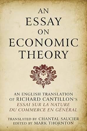 essay economic theory richard cantillon