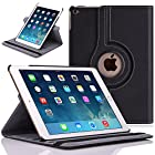 Apple iPad Air 2 Case - MoKo 360 Degree Rotating Cover Case for Apple iPad Air 2 (iPad 6) 9.7 Inch iOS 8 Tablet, BLACK (with Smart Cover Auto Sleep / wake)