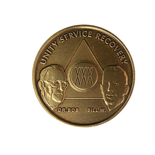 30 Year Bill & Bob Founders Edition Bronze AA (Alcoholics Anonymous) Birthday - Sober / Sobriety / Anniversary / Recovery / Medallion / Coin / Chip
