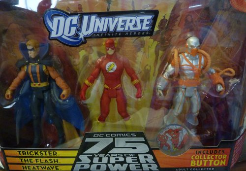 Buy Low Price Mattel DC Universe 75th Anniversary Infinite Heroes Flash, Heatwave, Trickster Figures 3-Pack (B002UHJSV8)