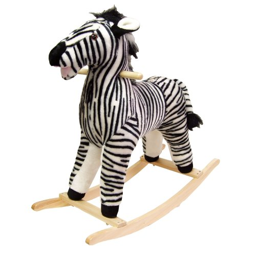 Happy Trails Zebra Plush Rocking Animal - 1