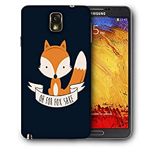 Snoogg Oh For Fox Sake Designer Protective Back Case Cover For SAMSUNG Galaxy NOTE 3