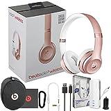 Beats Solo3 Wireless On-Ear Headphones - Rose Gold - W/MFI iWalk Lighting 3K Battery Pack & Car Charger (Certified Refurbished)